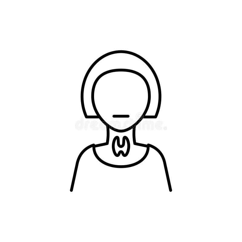 Cancersköldkörtelsymbol på en vit bakgrund vektor illustrationer