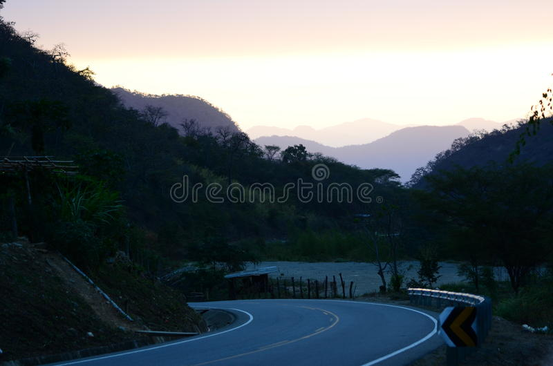 Canchaque-Straße - Piura - Peru stockbilder