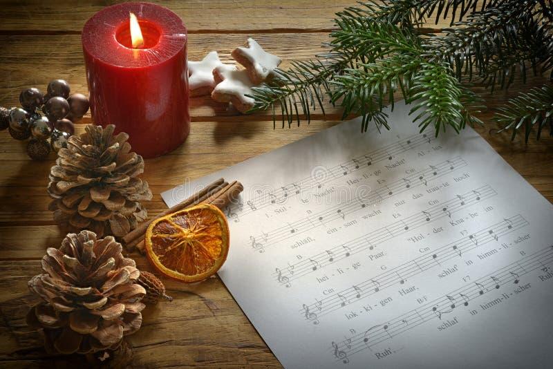Canción de la Navidad con Deko fotografía de archivo libre de regalías