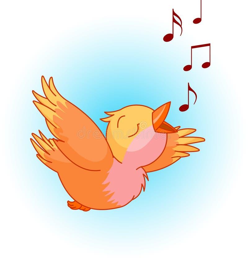 Canción del pájaro stock de ilustración
