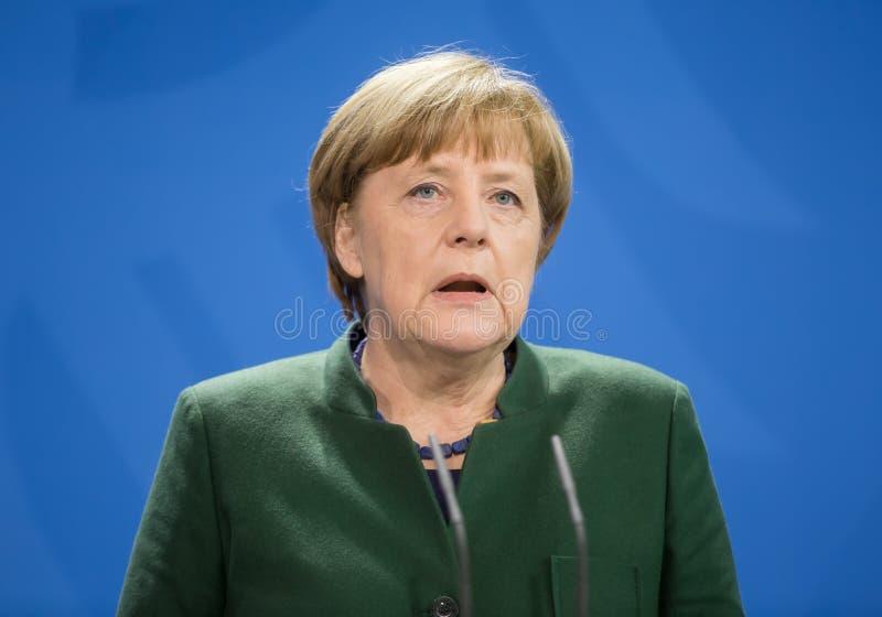 Canciller de la República Federal de Alemania Angela Merkel imagen de archivo