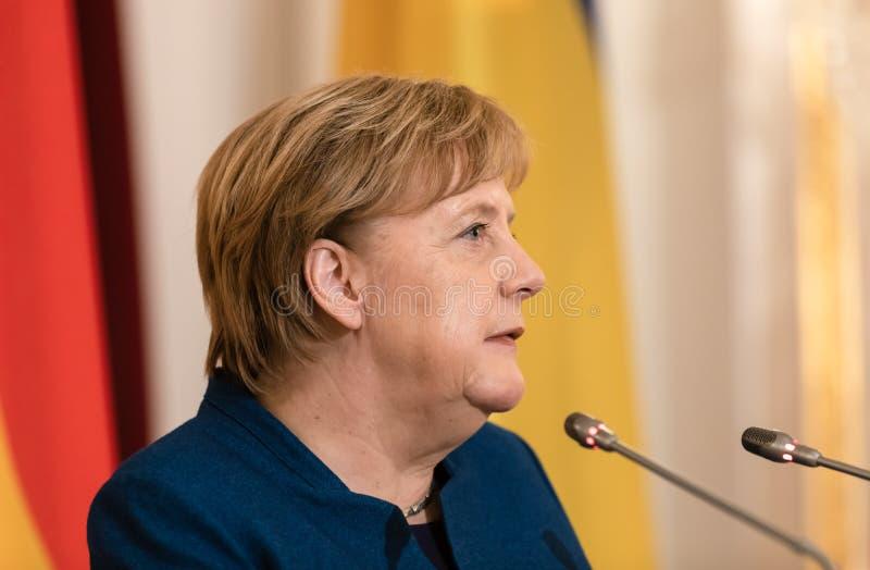 Canciller federal de la República Federal de Alemania Angela Mer imágenes de archivo libres de regalías