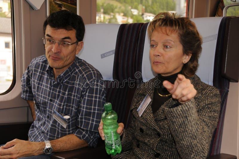 Canciller y ministro de Justicia suizos anteriores Eveline Widmer-S fotografía de archivo libre de regalías
