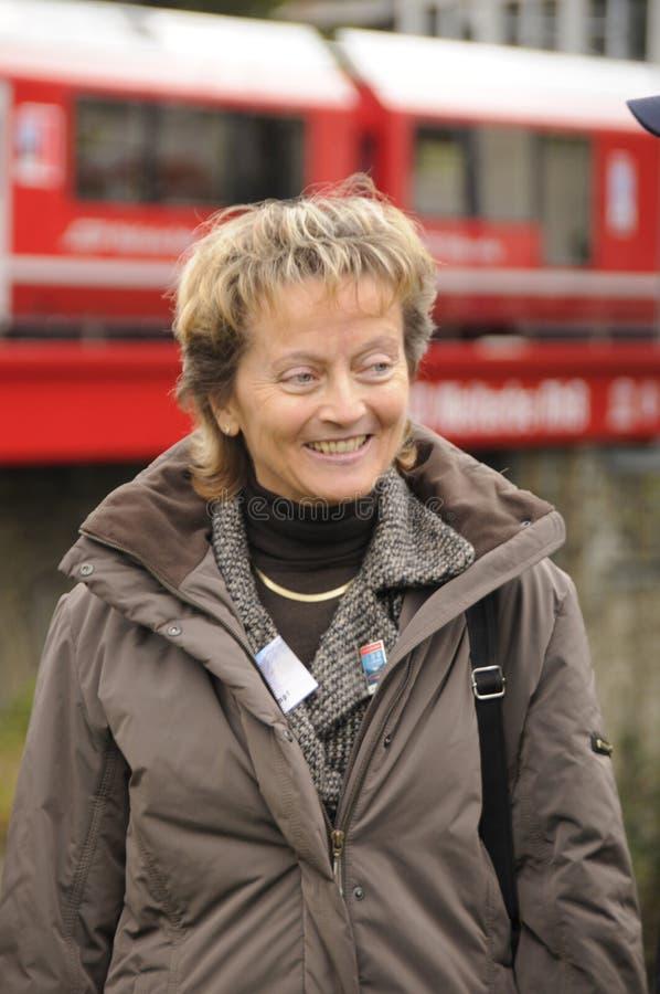 Canciller y ministro de Justicia suizos anteriores Eveline Widmer-S fotografía de archivo