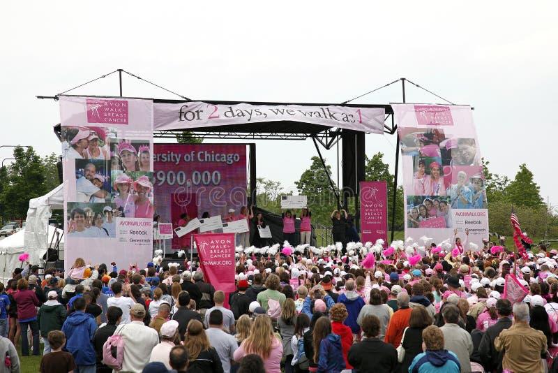 Cancro della mammella di Avon di cerimonia fotografia stock