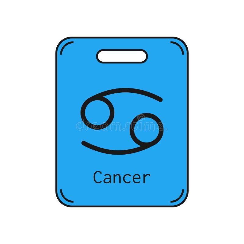 cancro Segno dello zodiaco Oroscopo e previsioni piani di simbolo Oggetto di vettore illustrazione di stock