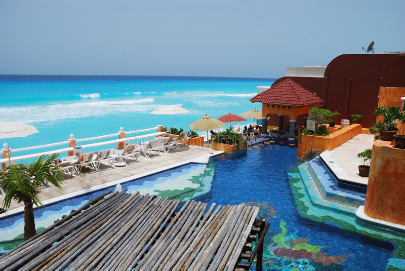 cancun θέρετρο στοκ φωτογραφία με δικαίωμα ελεύθερης χρήσης