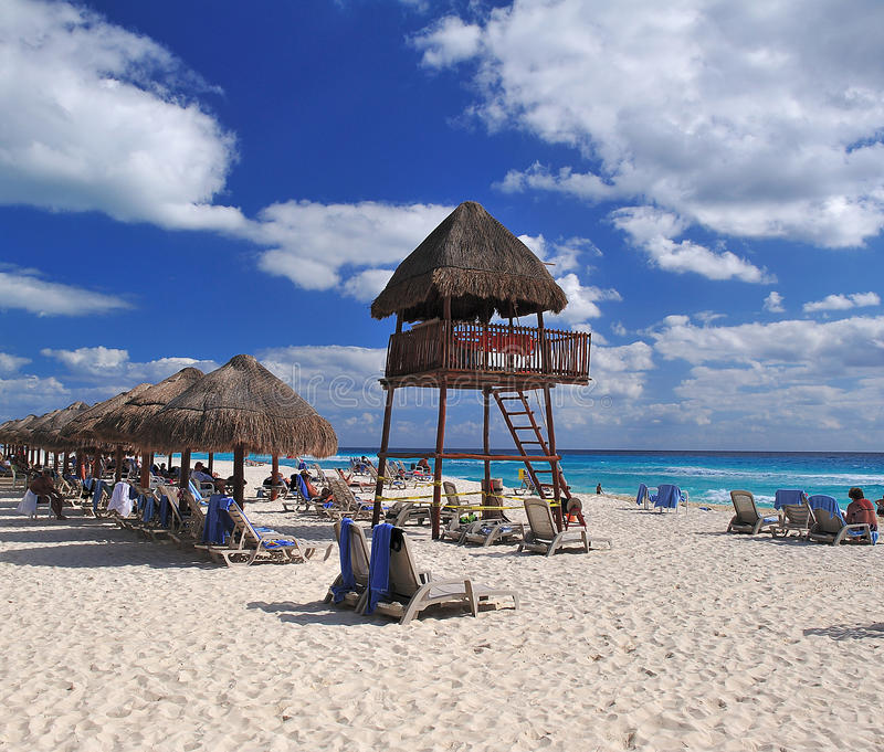 Cancun beach stock image