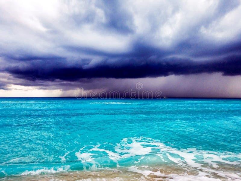 Cancun burze obrazy royalty free