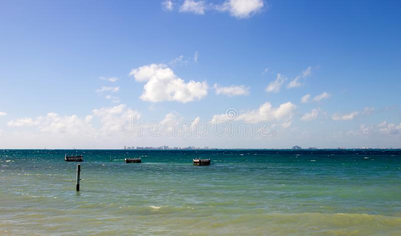 Cancun Horizon stock image