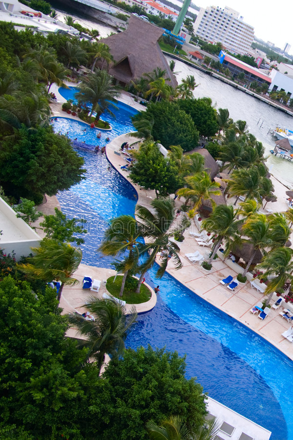 Cancun hotels royalty free stock image