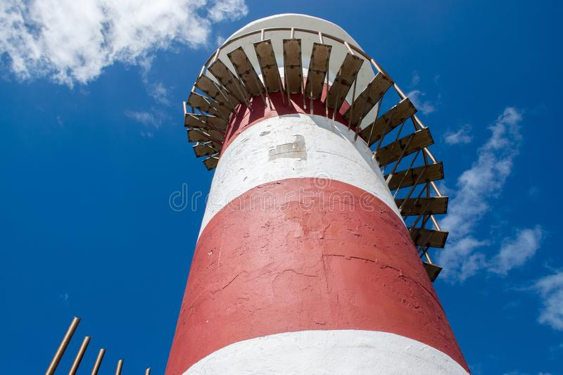 Cancun Lighthouse in Quintana Roo. Mexico. View from above stock image