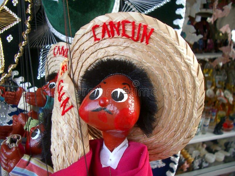 Cancun-Marionette lizenzfreie stockfotos