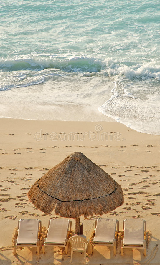 Cancun, Mexico Beach royalty free stock photos