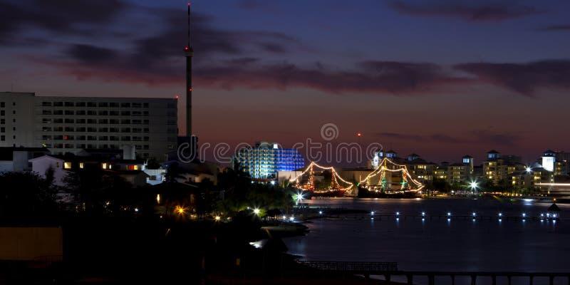 Cancun, Mexico - nacht royalty-vrije stock fotografie