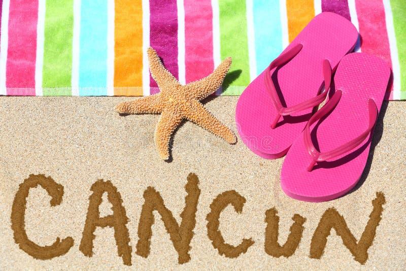 Cancun, Mexiko-Strandreisehintergrund lizenzfreie stockfotografie