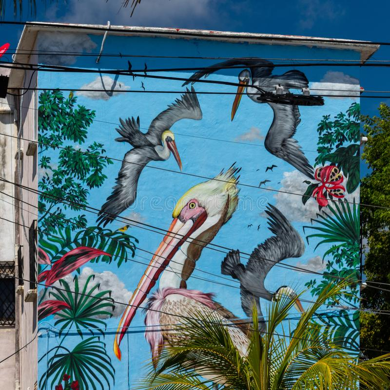 Cancun, Mexique ; 09 14 2018 Art urbain photo stock