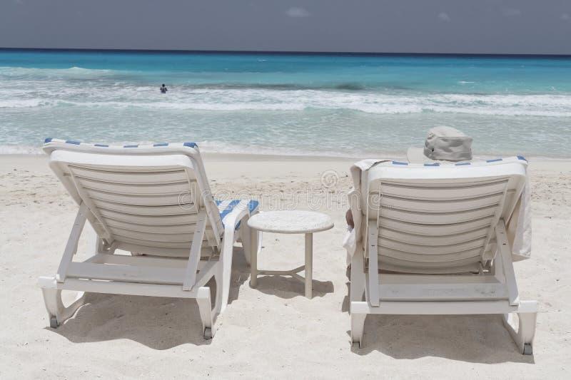 Cancun na plaży zdjęcie stock