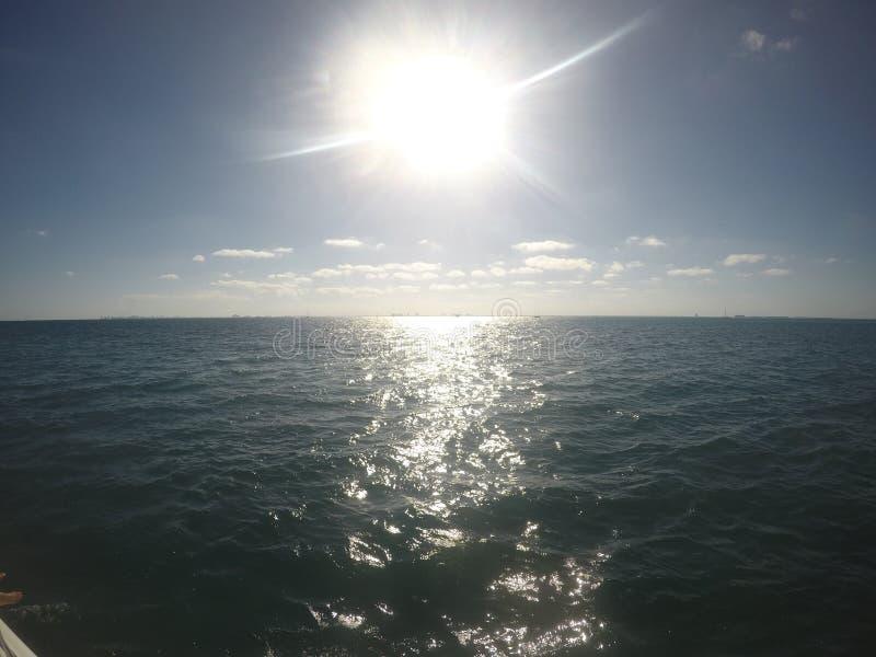 Cancun nell'orizzonte fotografia stock