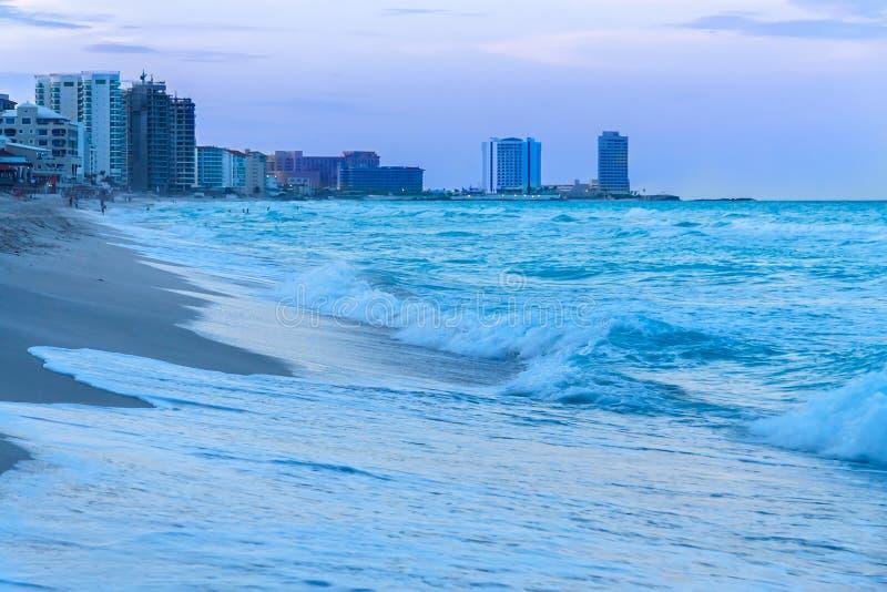 Cancun plaża Meksyk obraz royalty free