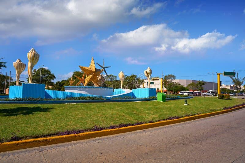 Cancun placu Ceviche kwadrat w Meksyk obraz royalty free