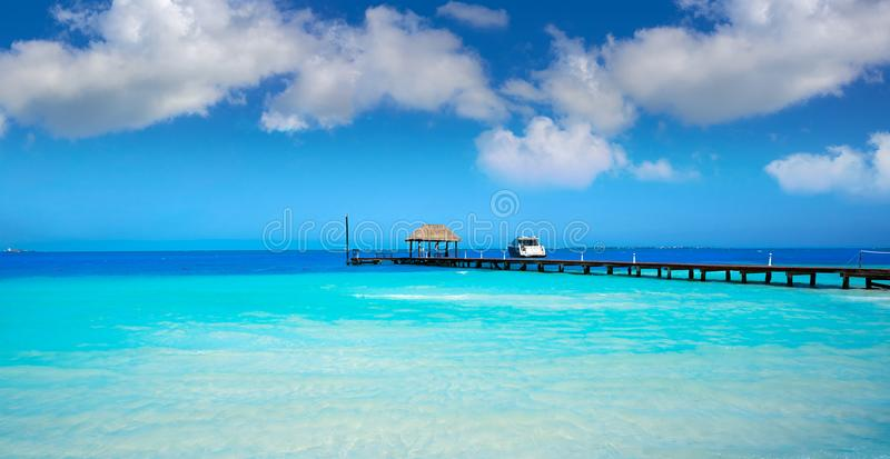 Cancun Playa Langostas beach in Mexico stock photo