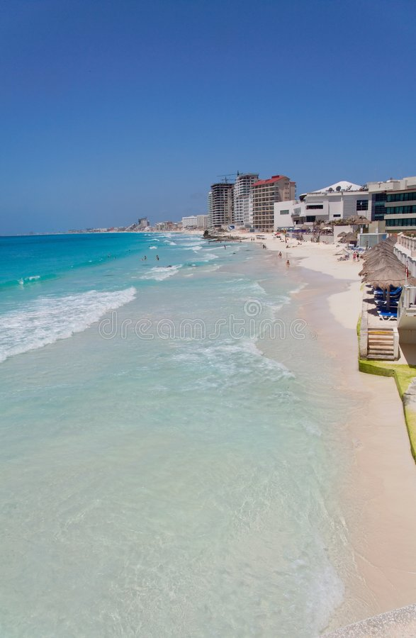 Cancun Shore Mexico royalty free stock photo