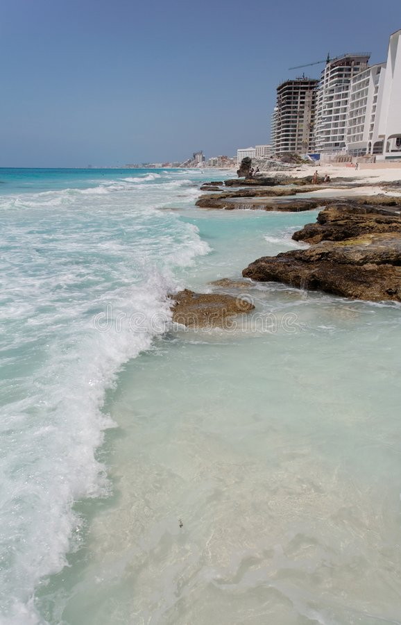 Cancun-Strand lizenzfreies stockfoto