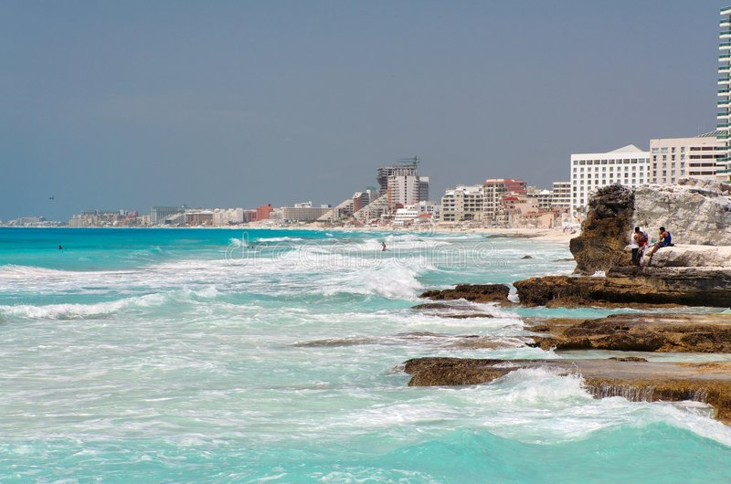 Cancun-Strand stockfoto