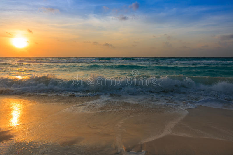 Cancun Sunrise stock image