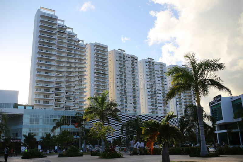 Cancuncentrum royalty-vrije stock foto