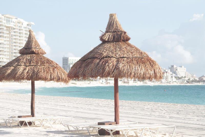 Cancunkustlijn royalty-vrije stock afbeelding