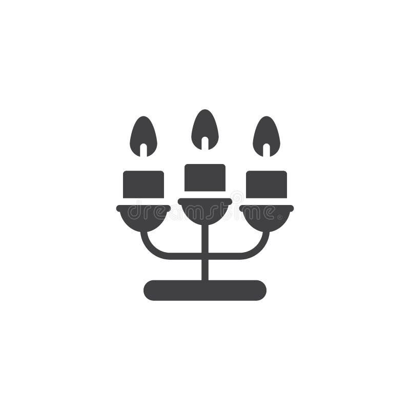 Candélabres avec l'icône de vecteur de bougies illustration libre de droits