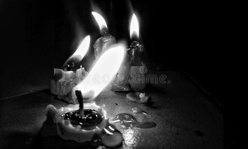 Candal światła black& biel obrazy royalty free