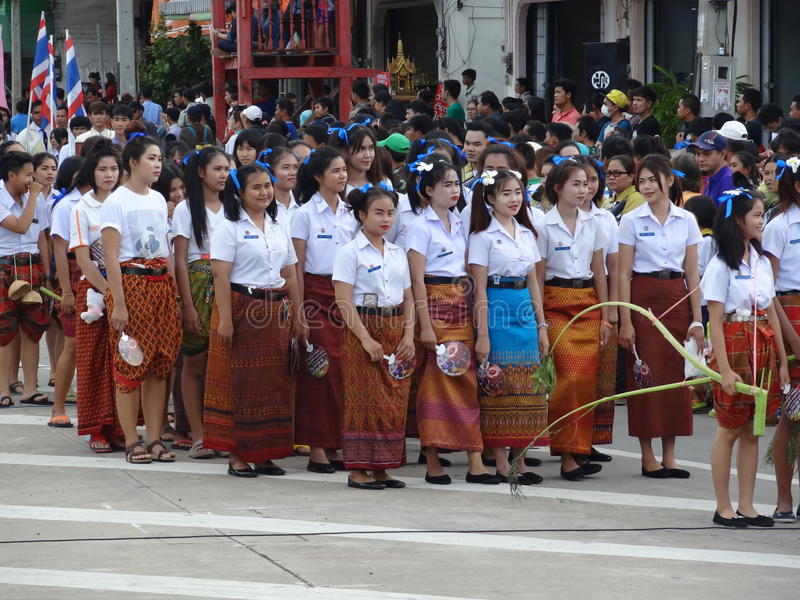 Candel Festival 2015,SURIN THAILAND royalty free stock photography