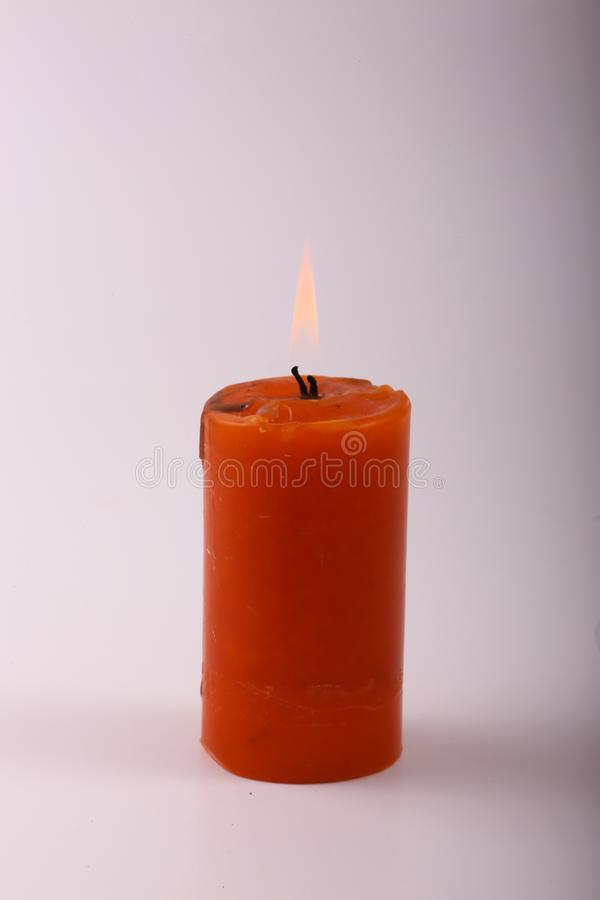 Candela arancio immagine stock libera da diritti