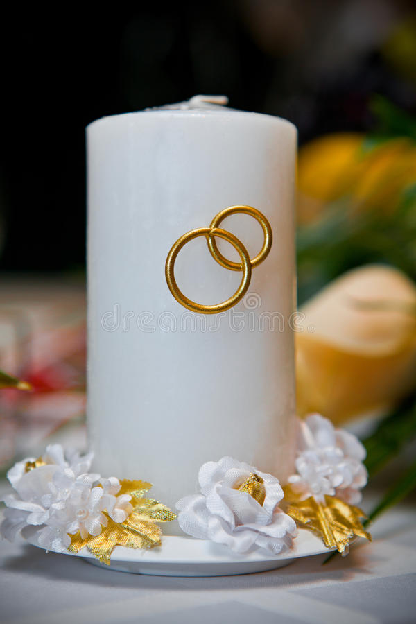 Candela bianca Wedding immagini stock