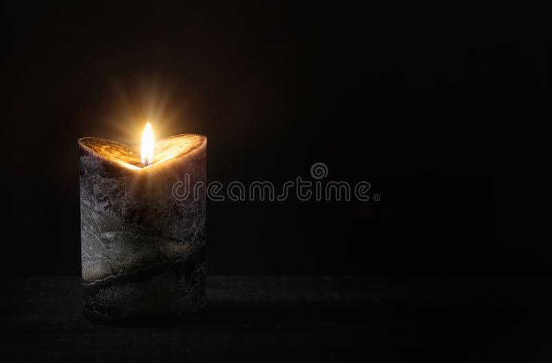 Candela Burning fotografie stock libere da diritti