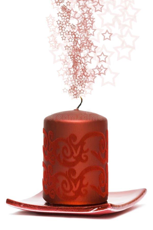 Candela burning rossa fotografie stock