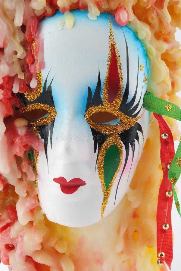 Download Candela con la mascherina immagine stock. Immagine di carnival - 7301863