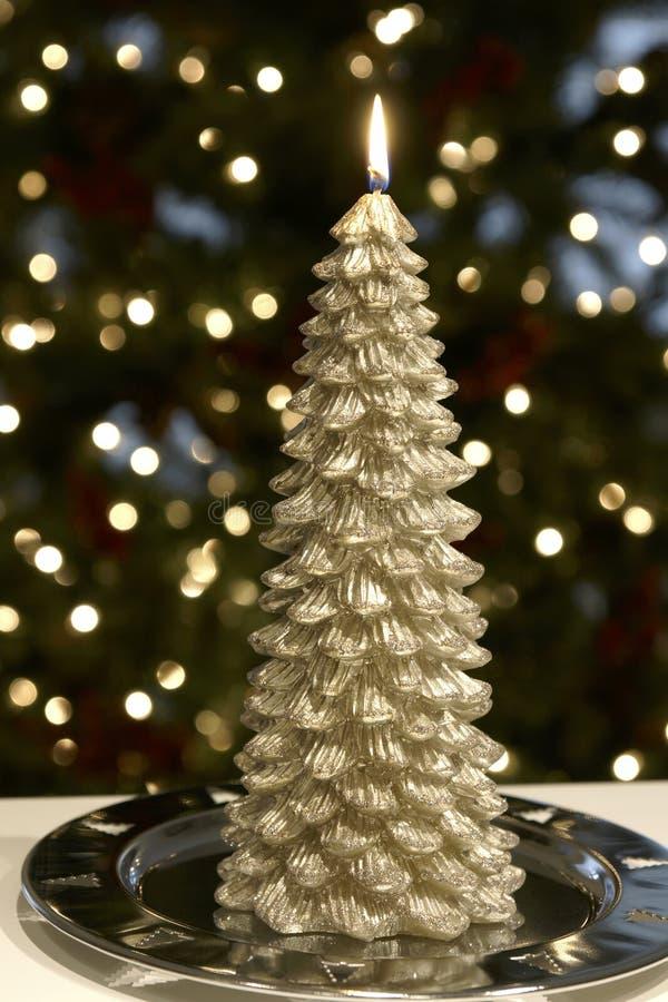 Candela dell'albero di Natale immagini stock libere da diritti