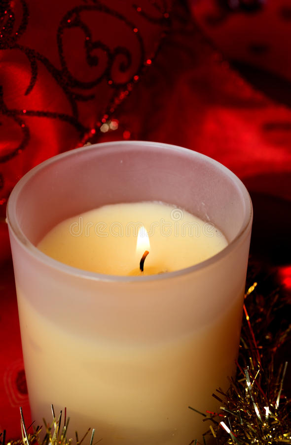 Candela dell'aroma di Natale fotografia stock