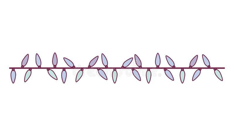 Candela della lampadina del cavo di estensione di colore pastello illustrazione di stock