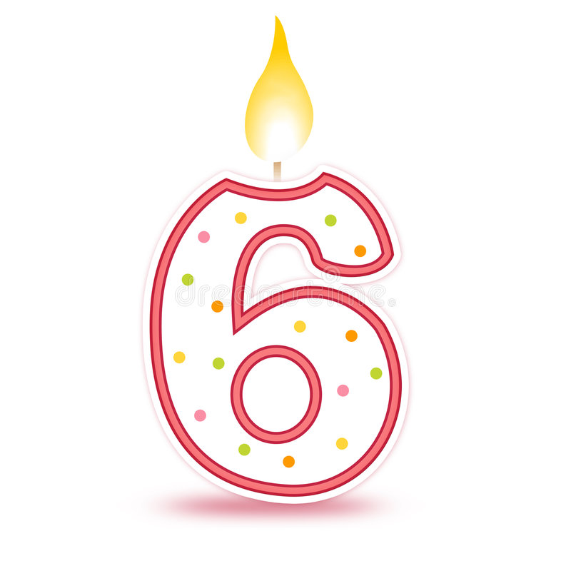 Candela di compleanno - 6 illustrazione di stock