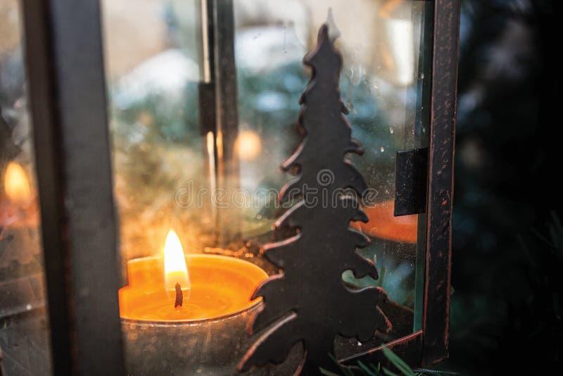 Candela di Natale immagini stock