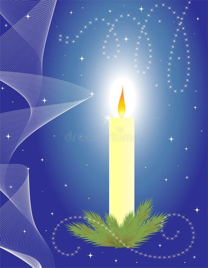 Download Candela di natale illustrazione vettoriale. Illustrazione di fuoco - 7323219