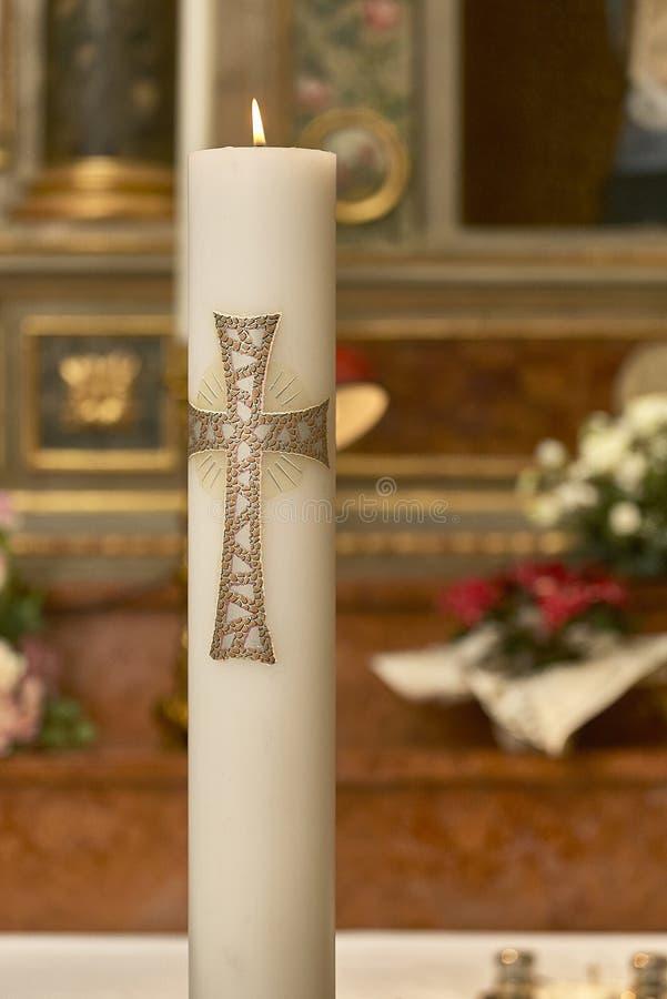 Candela di Pasqua immagine stock