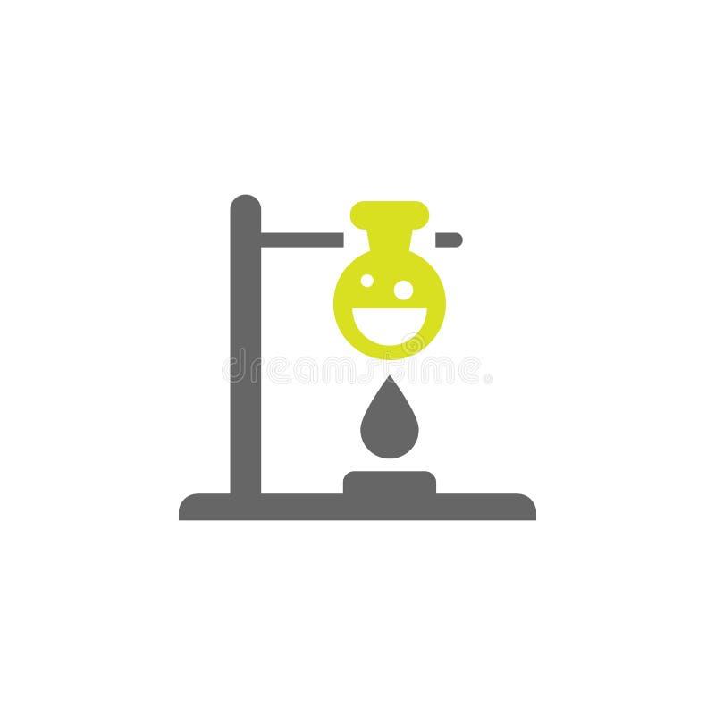 Candela, icona di chimica Elemento dell'icona di esperimento di scienza per i apps mobili di web e di concetto La candela dettagl illustrazione vettoriale