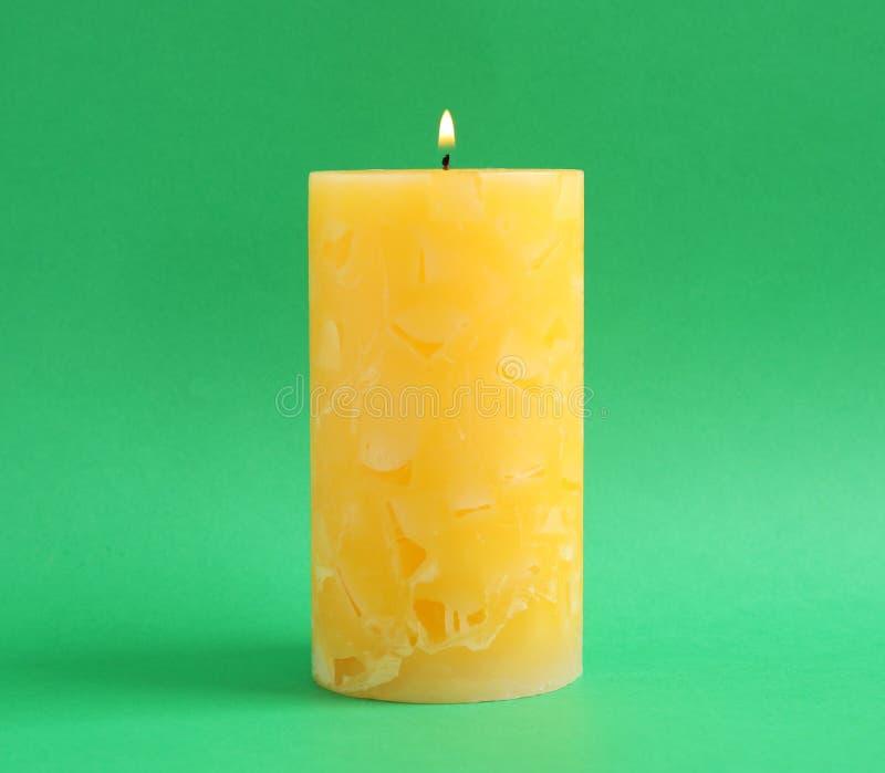 Candela profumata della cera Alight fotografie stock