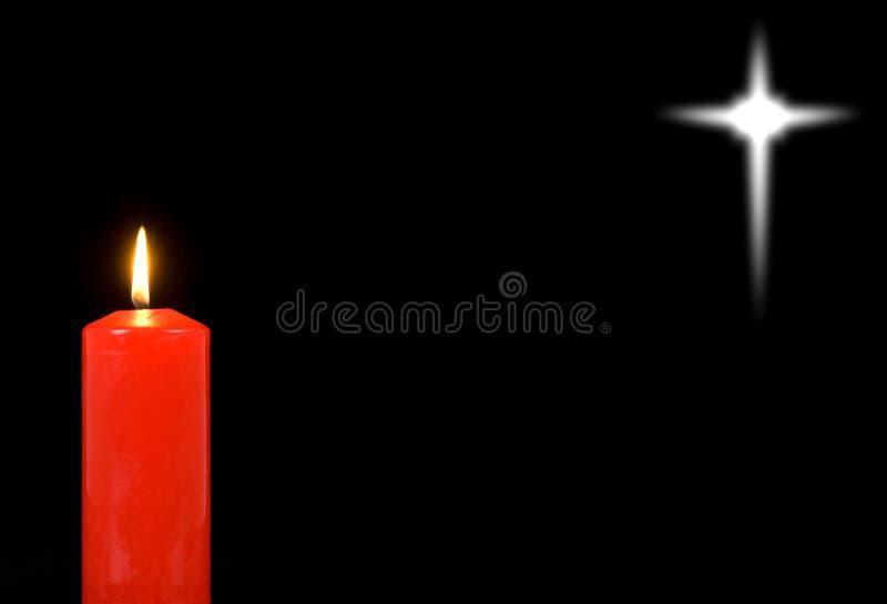 Candela rossa e una stella distante illustrazione vettoriale